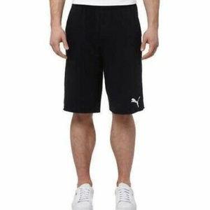 Men's Puma black gym shorts with pockets